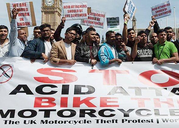 Motorcycle crime protestors